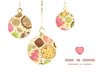 Vector colorful cookies Christmas ornaments Royalty Free Stock Photo