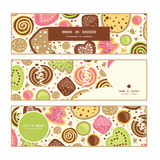 Vector colorful cookies horizontal banners set Stock Photo