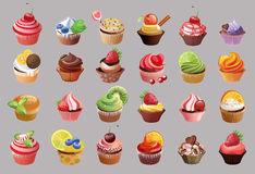 Vector colorful cupcakes Royalty Free Stock Images