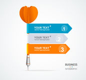 Vector colorful dart arrow like options banner Royalty Free Stock Photo