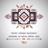 Vector colorful decorative element on ethnic style Stock Photo