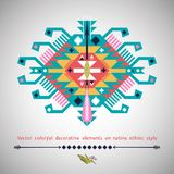 Vector colorful decorative element on native Royalty Free Stock Photos