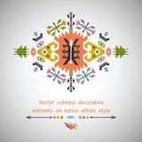 Vector colorful decorative element on native Royalty Free Stock Photography