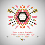 Vector colorful decorative element on native Stock Images