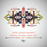 Vector colorful decorative element on native Stock Photos