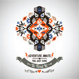 Vector colorful decorative element on native ethnic style Royalty Free Stock Photos