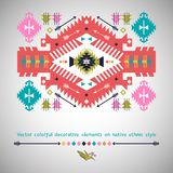 Vector colorful decorative element on native Royalty Free Stock Image
