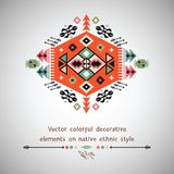 Vector colorful decorative element on native Stock Image