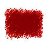 Red crayon scribble texture stain isolated on white background. Vector colorful detailed backdrop with crayon scribble texture. Abstract stain isolated on white Royalty Free Stock Image