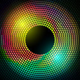 Vector colorful disco lights frame Royalty Free Stock Photo