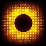 Vector colorful disco lights frame Royalty Free Stock Photos