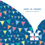 Vector colorful doodle bunting flags Christmas Stock Photos