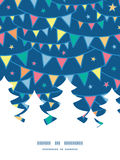 Vector colorful doodle bunting flags Christmas Royalty Free Stock Photos