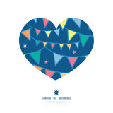 Vector colorful doodle bunting flags heart Stock Photography