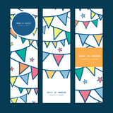 Vector colorful doodle bunting flags vertical Royalty Free Stock Photography