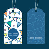 Vector colorful doodle bunting flags vertical Royalty Free Stock Photo