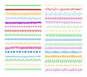 Vector Colorful Doodle Divider Lines, Borders Set Background. Vector Colorful Doodle Divider Lines, Borders Set Isolated on White Background vector illustration