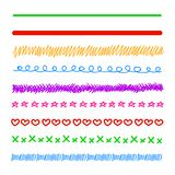 Vector Colorful Doodle Lines, Hand Drawn Illustration. stock illustration