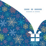 Vector colorful doodle snowflakes Christmas gift Royalty Free Stock Photo
