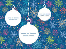 Vector colorful doodle snowflakes Christmas Stock Images