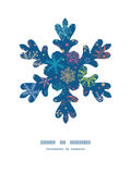Vector colorful doodle snowflakes Christmas Stock Photos