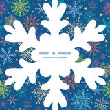 Vector colorful doodle snowflakes Christmas Stock Photo