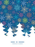 Vector colorful doodle snowflakes Christmas tree Stock Image