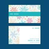 Vector colorful doodle snowflakes horizontal Stock Photos