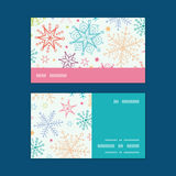 Vector colorful doodle snowflakes horizontal Royalty Free Stock Image