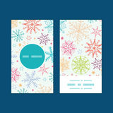 Vector colorful doodle snowflakes vertical round Stock Image