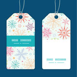 Vector colorful doodle snowflakes vertical stripe Stock Images