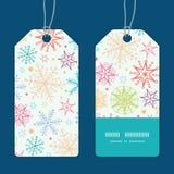 Vector colorful doodle snowflakes vertical stripe Stock Photos