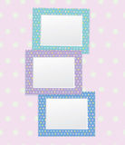 Vector colorful empty photo frames. Background is my creative handdrawing and you can use it for photos, scarbook design and etc, made in vector, Adobe royalty free illustration