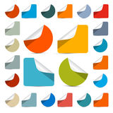 Vector Colorful Empty Stickers Royalty Free Stock Photos