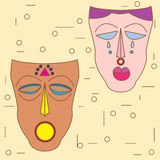 Vector colorful ethnic African mask Stock Photos