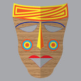 Vector colorful ethnic African mask Royalty Free Stock Image