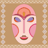 Vector colorful ethnic African mask Stock Image