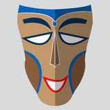 Vector colorful ethnic African mask Stock Images