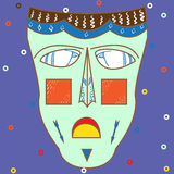 Vector colorful ethnic African mask Royalty Free Stock Photography