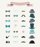 Vector Colorful Fashion Hipster Retro Vintage Icon Royalty Free Stock Image