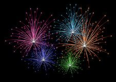 Vector colorful firework Royalty Free Stock Photos