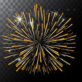 Vector  colorful fireworks on a transparent background. EPS Royalty Free Stock Photos