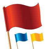 Vector colorful flags. Illustration for your artwork Royalty Free Stock Image