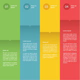 Vector colorful flat design template. Four choices. Vector colorful flat design template. Four choices, steps or levels Stock Photos