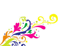Vector Colorful Floral Pattern Stock Photography
