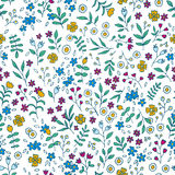 Vector colorful floral seamless pattern Stock Photo