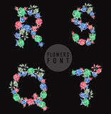 Vector colorful flower font. Can be used banners, invitation, congratulation or website layout vector vector illustration