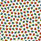 Vector colorful flowers seamless pattern Royalty Free Stock Photography