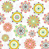 Vector Colorful Folk Seamless Pattern Background. Graphic design vector illustration