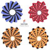 Vector colorful fractal ornament set Stock Images
